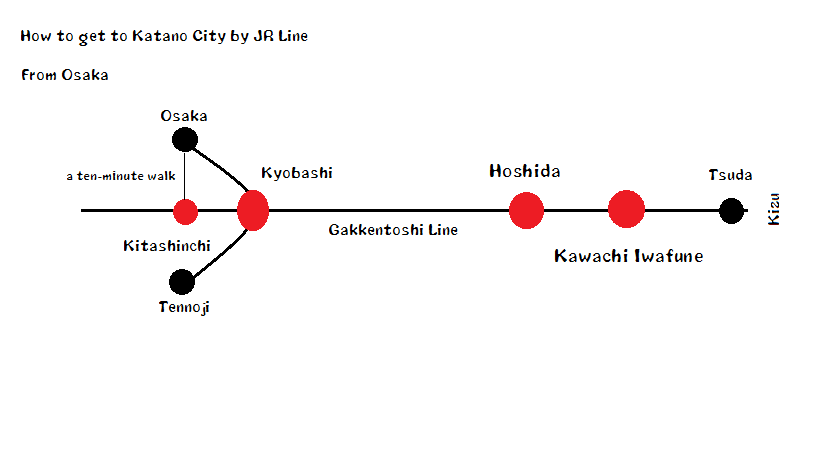 JR Line Map (from Osaka)