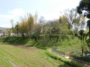 The archaeological site of the Kisabe castle