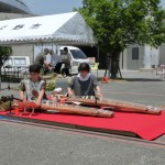 Two performer played Koto (Japanese harp).